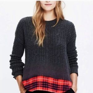Madewell gray flannel sweater